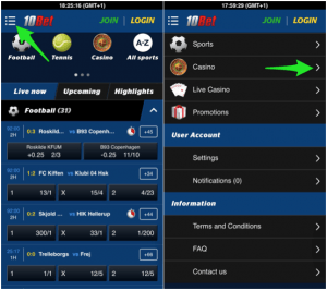 what is new on the 10bet casino app version