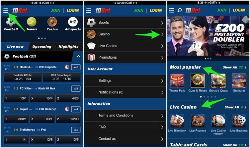 Find the iPhone betting app of the 10bet website!