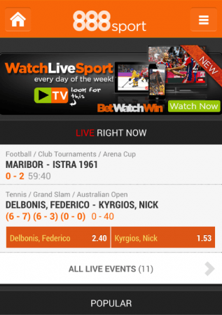 check out the 888sport iphone app features