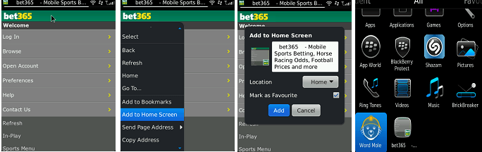 Bet365 blackBerry app