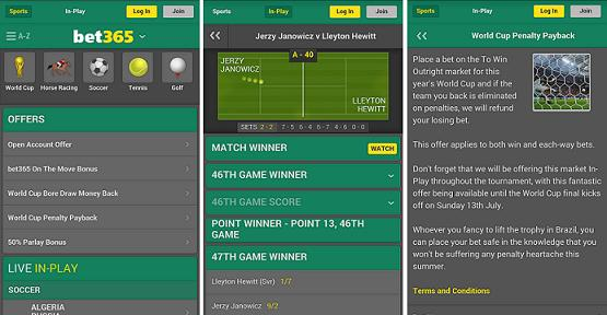 have a look at great design of bet365 android app