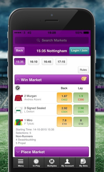 Punter using the iOS app of Betdaq must take responsibility!