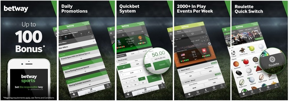 betway sports app features