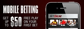 Is there a mobile bonus for betting at Betonline?