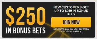 How big is the welcome bonus of the Bookmaker.com.au website?
