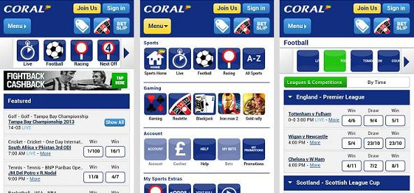 coral bookmakers app
