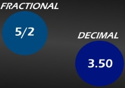 Fractional to decimal odds translation