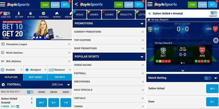 Where to get information about the iPhone app of Boylesports?