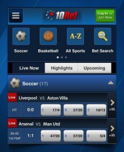 Has the 10bet app for iPhone got a lot of features?