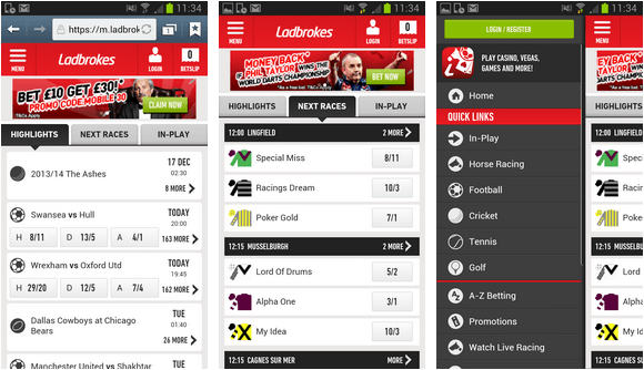 Ladbrokes betting applications livescore betting directory commands