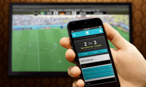 mobile device betting and TV