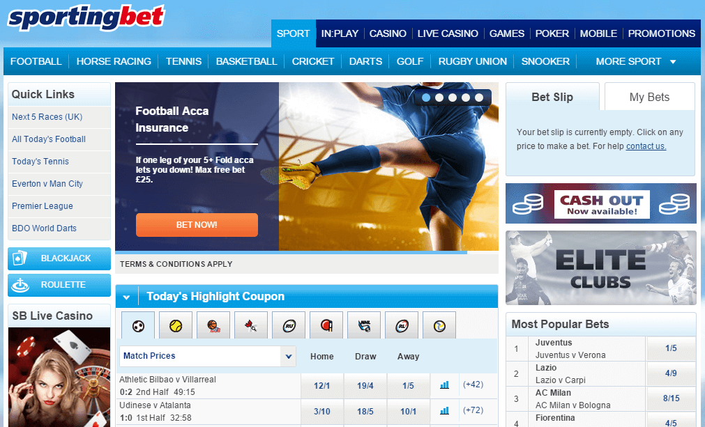 sportingbet homepage