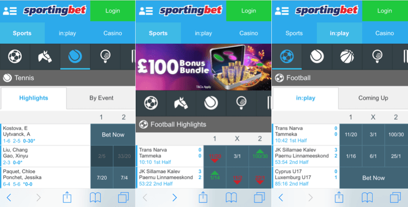what bets can you make with a sportingbet iphone