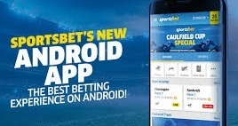 What are the two ways to use the Sportsbet Android app?