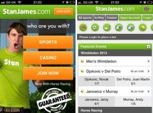 which are the different sports at the stan james iphone