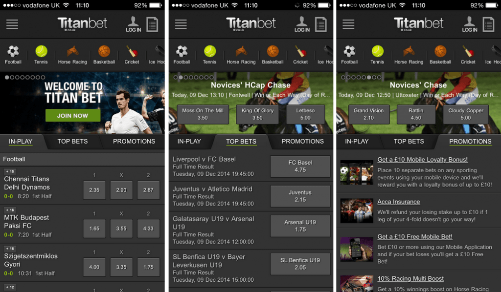 titanbet android app screenshot