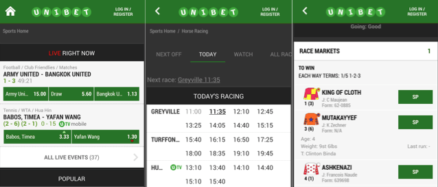 is the unibet iphone app easy on the eyes