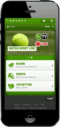 how can the unibet for iphone app be accessed