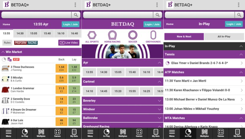 Is the application of Betdaq iPhone easy to navigate?